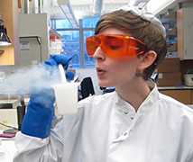 Molly Edwards in a lab